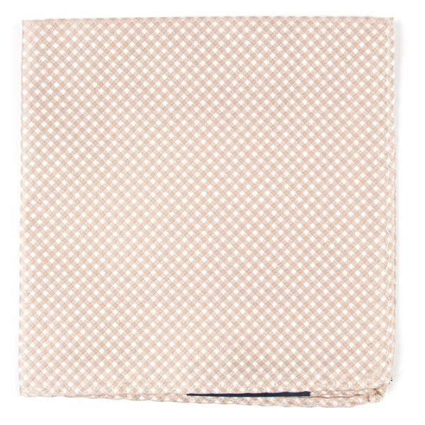 Be Married Checks Champagne Pocket Square