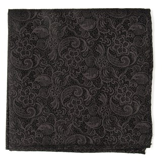 Ceremony Paisley Black Pocket Square
