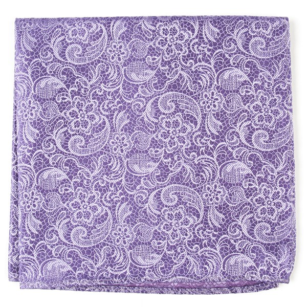 Lilac Ceremony Paisley Pocket Square