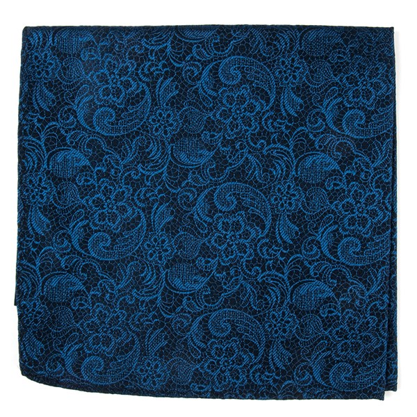 Navy Ceremony Paisley Pocket Square