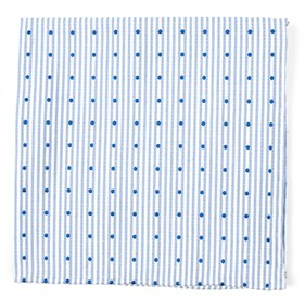 Classic Blue Down The Aisle Dots pocket square