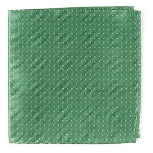 mini dots mint pocket square