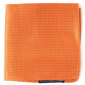 mini dots tangerine pocket square