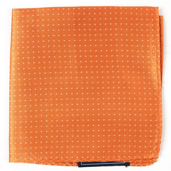 Tangerine Mini Dots Pocket Square