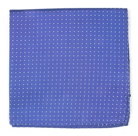 Periwinkle Mini Dots pocket square