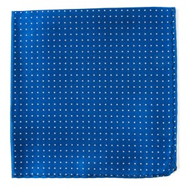 Royal Blue Mini Dots pocket square