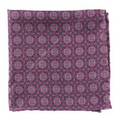 Pocket Squares - Medallion March - Fuchsia