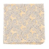 Pocket Squares - Hanging Paisley - Butter