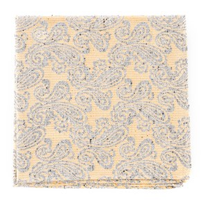 hanging paisley butter pocket square