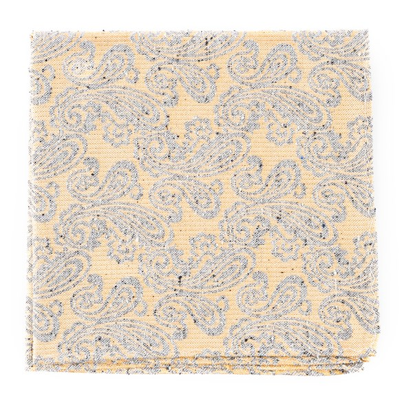 Butter Hanging Paisley Pocket Square
