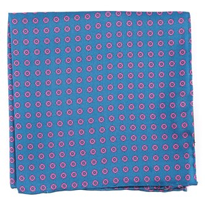major star serene blue pocket square