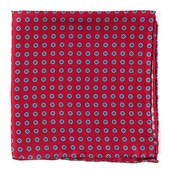 Pocket Squares - Major Star - Apple Red