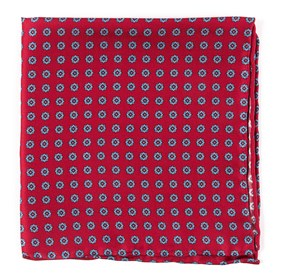 Apple Red Major Star pocket square
