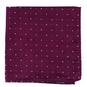 jpl dots deep azalea pocket square