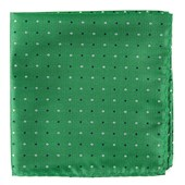 Pocket Squares - JPL Dots - Clover Green