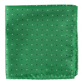 Clover Green Jpl Dots pocket square