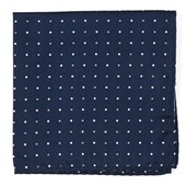 Pocket Squares - JPL Dots - Navy