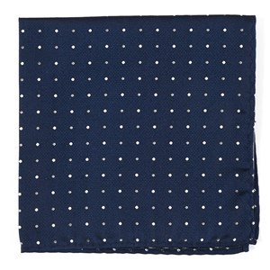 jpl dots navy pocket square