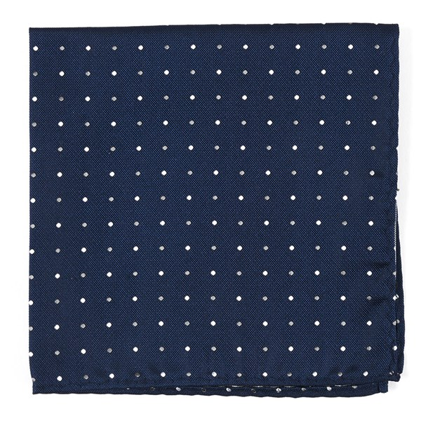 Navy Jpl Dots Pocket Square