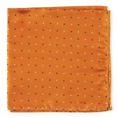 Pocket Squares - JPL Dots - Orange