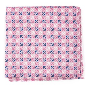 Baby Pink Voyage pocket square