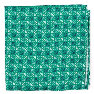 voyage emerald green pocket square