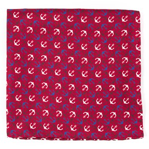 voyage red pocket square