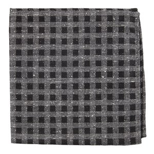 cement checks black pocket square