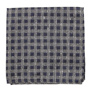 cement checks navy pocket square
