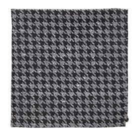 Black Houndstooth Thrill pocket square