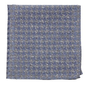 Slate Blue Houndstooth Thrill pocket square