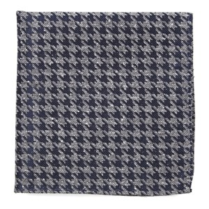 houndstooth thrill navy pocket square