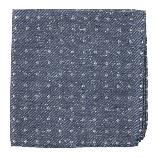 Serene Blue Knotted Dots Pocket Square