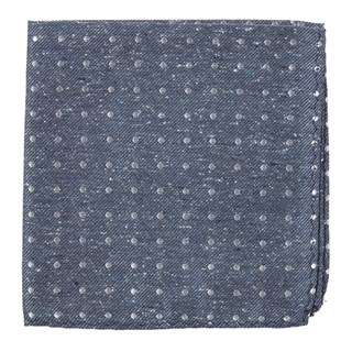 knotted dots serene blue pocket square