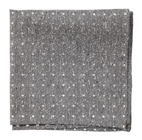 Grey Knotted Dots pocket square