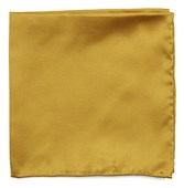Pocket Squares - Solid Twill - Gold