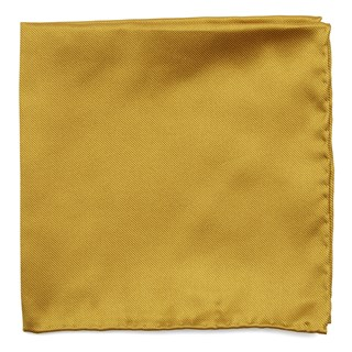 Solid Twill Gold Pocket Square