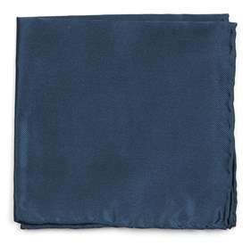 Teal Solid Twill pocket square