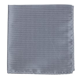 Silver Sound Wave Herringbone pocket square