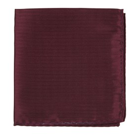 Burgundy Sound Wave Herringbone pocket square