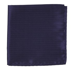 Sound Wave Herringbone Eggplant pocket square