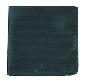 Hunter Green Sound Wave Herringbone pocket square