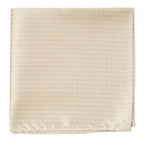 Light Champagne Mini Dots pocket square