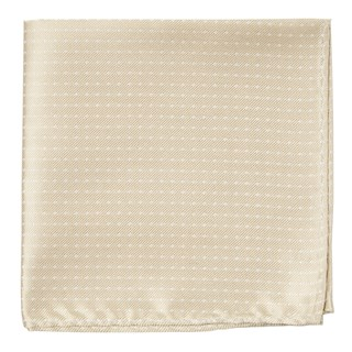 Mini Dots Light Champagne Pocket Square