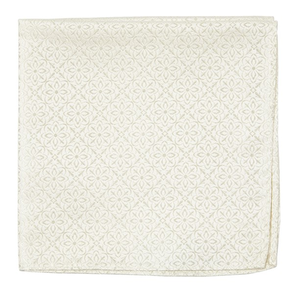 Ivory Opulent Pocket Square