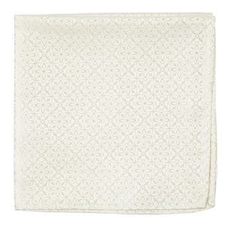 Opulent Ivory Pocket Square