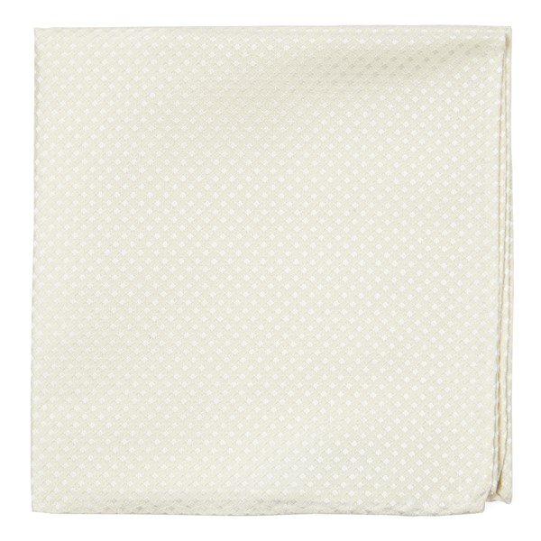 Ivory Be Married Checks Pocket Square