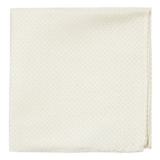 be married checks ivory pocket square