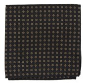 Pocket Squares - Eagle Eye Medallion - Classic Black