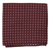 Pocket Squares - Eagle Eye Medallion - Burgundy